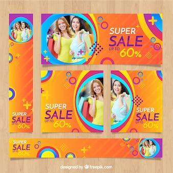 Mode verkoop banner collectie