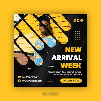 Mode verkoop banner sociale media post sjablonen premium vector