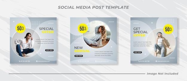 Mode verkoop banner voor sociale media post-sjabloon