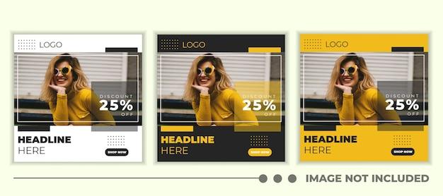 Mode verkoop banner voor web en social media post-sjabloon.