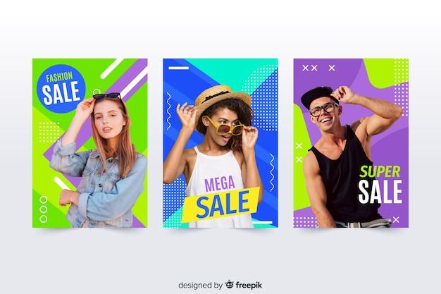 Mode verkoop banners met foto