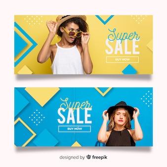 Mode verkoop banners