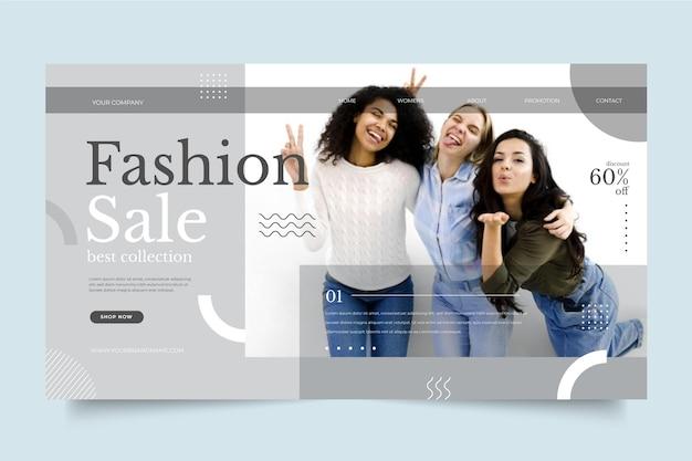 Mode verkoop bestemmingspagina desing