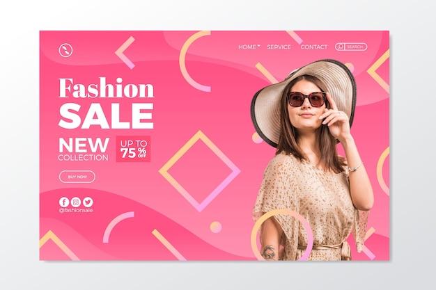 Mode verkoop bestemmingspagina sjabloon