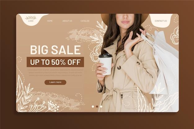 Mode verkoop bestemmingspagina