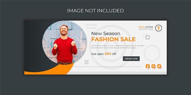 Mode verkoop facebook omslagsjabloon voor spandoek