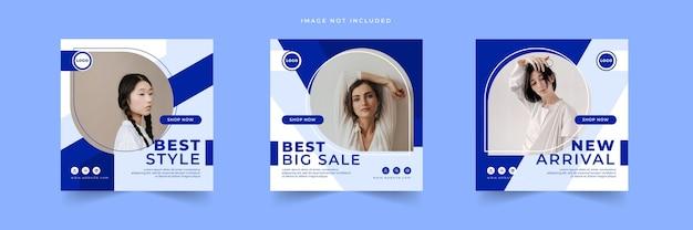 Mode verkoop instagram posts bundels collectie