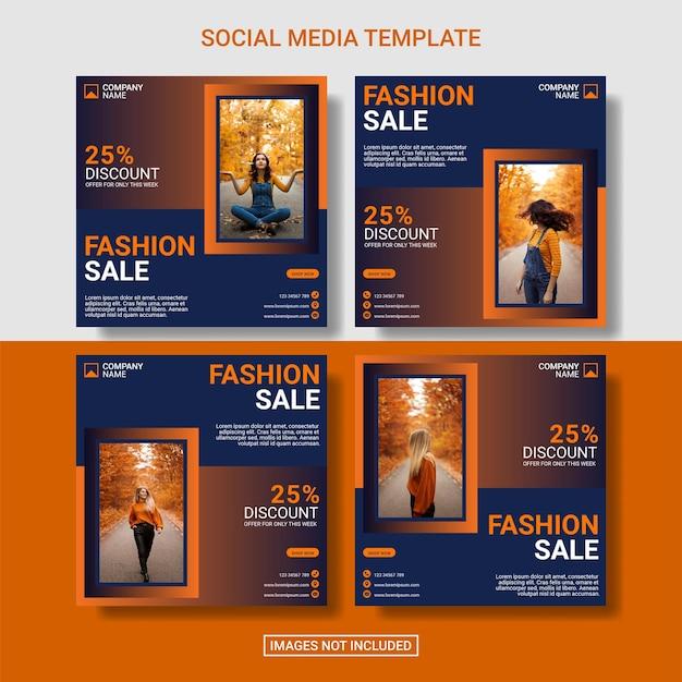 Mode verkoop instagram postsjabloon