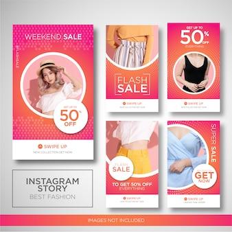 Mode verkoop instagram verhalen sjabloon