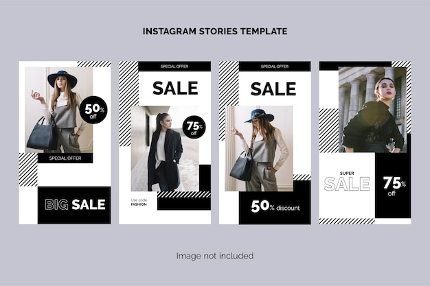 Mode verkoop instagram verhalencollectie