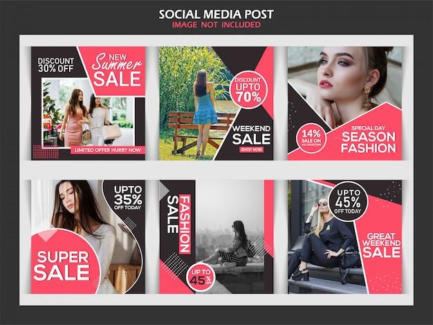 Mode verkoop korting banner set