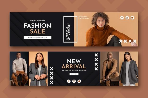 Mode verkoop met kortingsjabloon