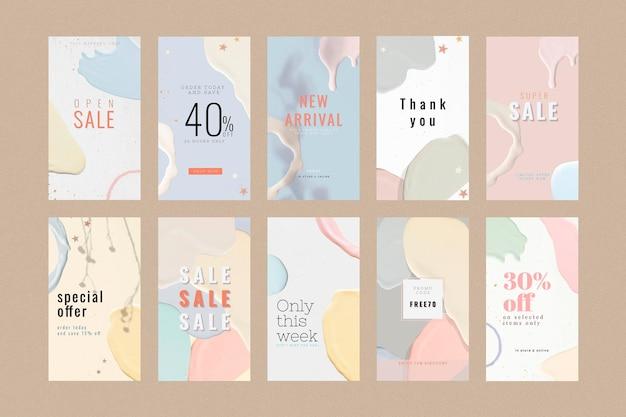 Mode verkoop sjabloon collectie Gratis Vector