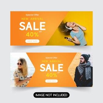 Mode verkoop sjabloon voor spandoek.