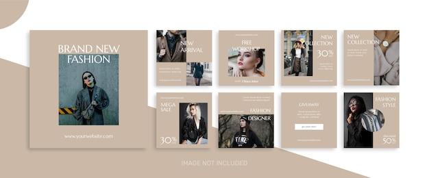 Mode verkoop social media post sjablonen Premium Vector