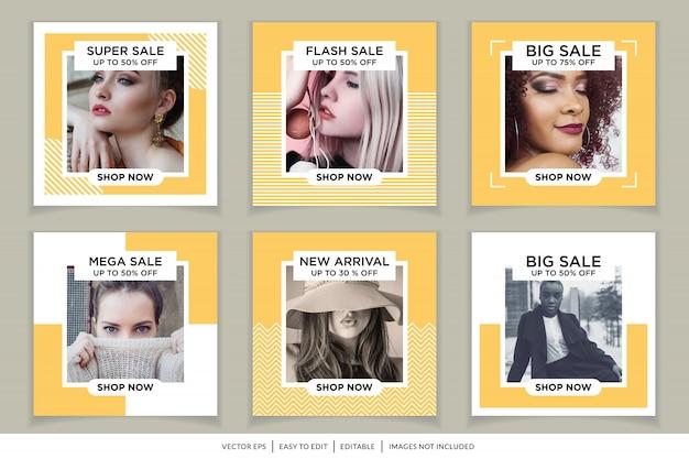 Mode verkoop social media post-sjabloon