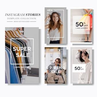 Mode verkoop social media story marketing