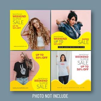 Mode verkoop sociale media en webbanners