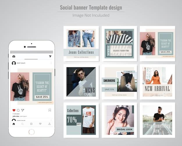 Mode verkoop sociale media post sjabloon