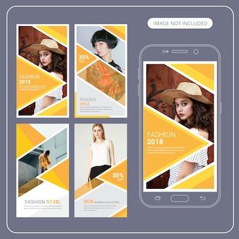 Mode verkoop sociale media post sjabloon Premium Vector
