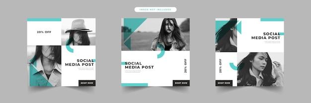 Mode verkoop sociale media post sjablooncollectie