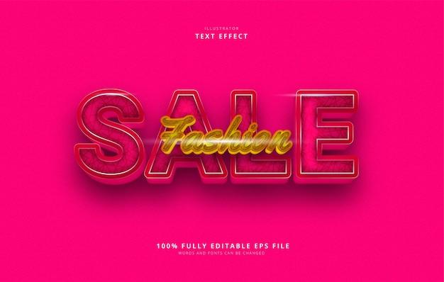 Mode verkoop teksteffect