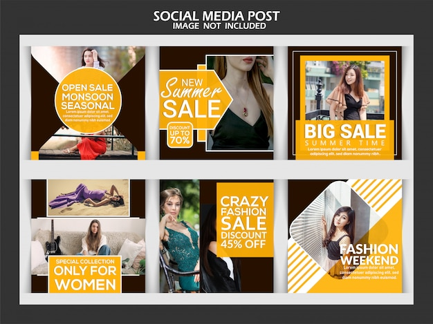 Mode verkoop vierkante banner of sociale media post
