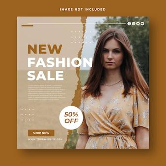 Mode verkoop vierkante banner social media post