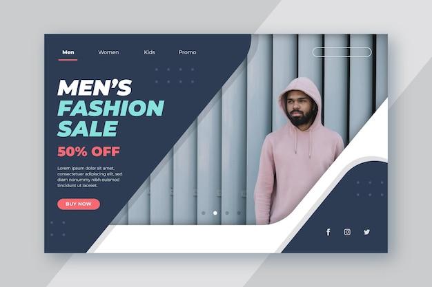 Mode verkoopsjabloon voor bestemmingspagina