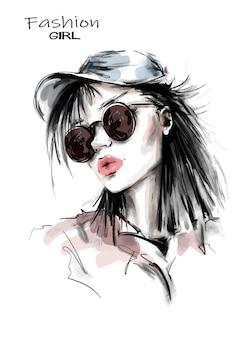 Mode vrouw in cap.
