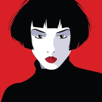 Mode vrouw in pop-art stijl. mode illustratie