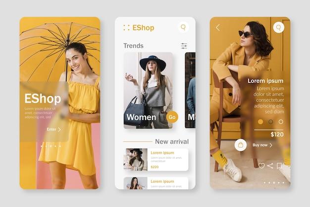 Mode winkelen app-sjabloon