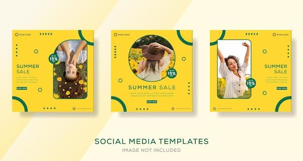 Mode zomer verkoop banner sjabloon verhalen plaatsen premium vector