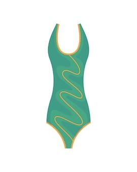 Mode zwembroek. platte icoon van cartoon trendy vrouwelijke strandkleding. zwemkleding uit één stuk of badkleding voor meisjes en damesondergoed.