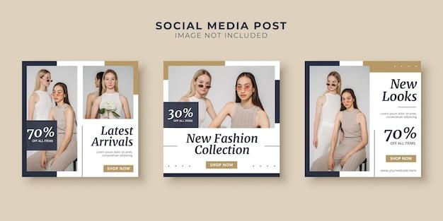 Modecollectie verkoop social media postsjabloon