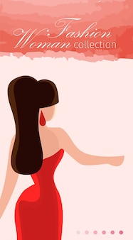 Model agentschap mode vrouw collectie platte banner.