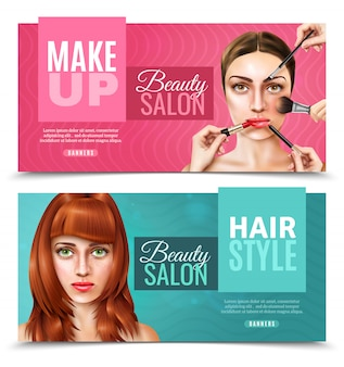 Model face salon banners