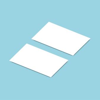Model mockup van het visitekaartje