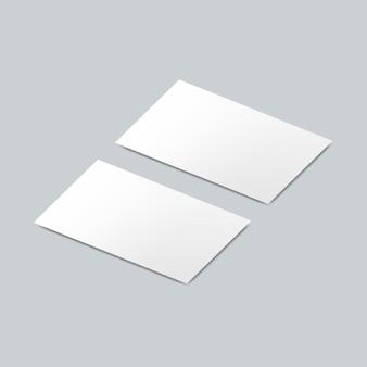 Model mockup voor visitekaartjes