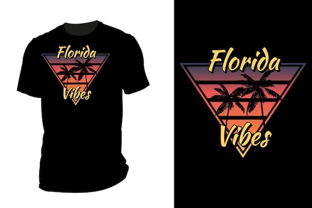 Model t-shirt silhouet florida vibes retro vintage