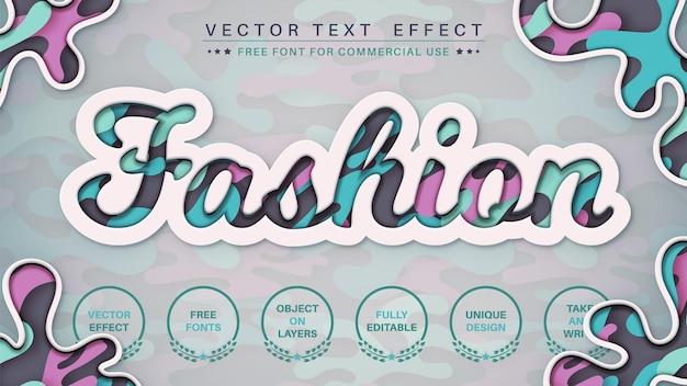 Modepapier bewerk teksteffect bewerkbare lettertypestijl