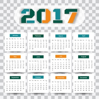 Modern 2017 kalender