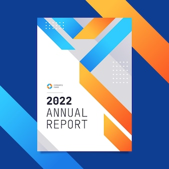 Modern 2022 zakelijk jaarverslagsjabloon