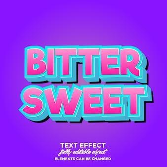 Modern 3d cartoon lettertype effect