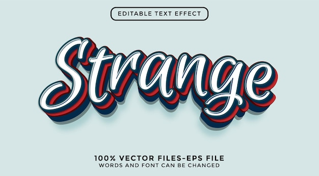 Modern 3d graffiti-stijl teksteffect premium vecto
