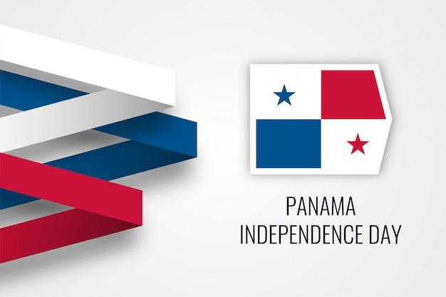 Modern 3d-ontwerp van de onafhankelijkheidsdag van panama