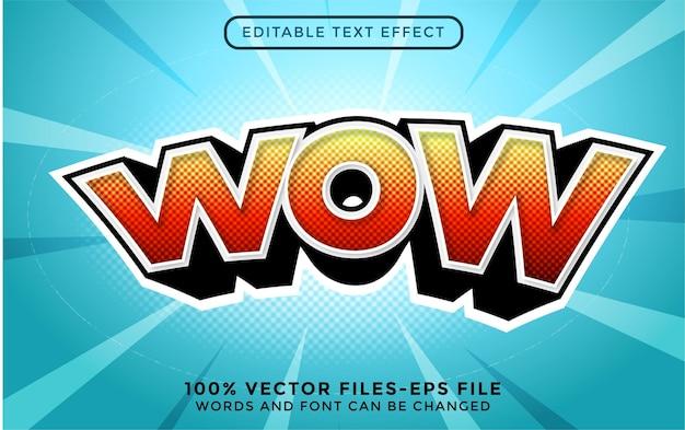 Modern 3d-stijl teksteffect premium vecto