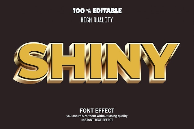 Modern 3d teksteffect, bewerkbaar lettertype-effect