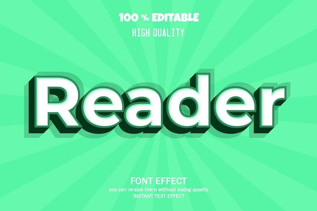 Modern 3d teksteffect doopvonteffect