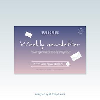 Modern abonnement met een plat ontwerp